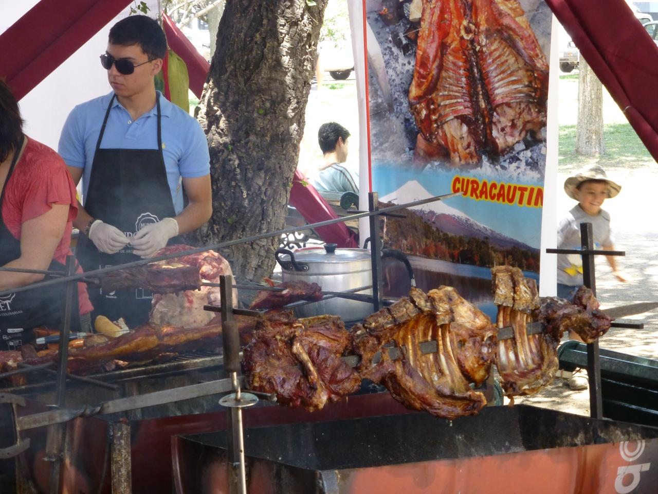 BBQ`en in broeierig warmSantiago