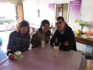 Samen met Hanny en een vriendin van haar