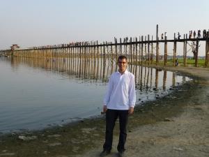 De U-Bein brug nabij Amarapura