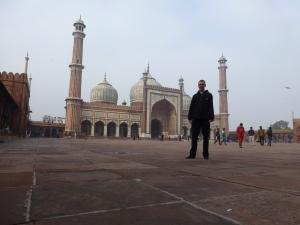 De fraaie Jama Masjid moskee