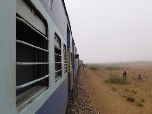 In de trein naar Jodhpur.
