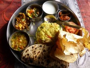 Een overheerlijke thali.