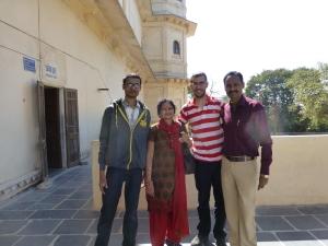 Deze familie wilde graag op de foto.