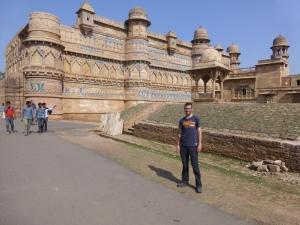 Het fort van Gwalior.