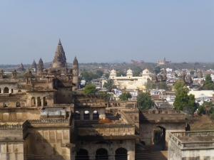 Uitzicht vanaf de top van Jahangir Mahal.