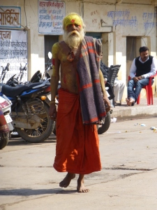 Straatbeeld in Orchha.