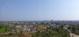Uitzicht vanaf de top van de Lakshmi tempel.