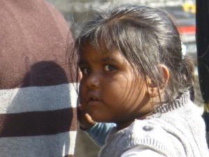 Een meisje in Jhansi.