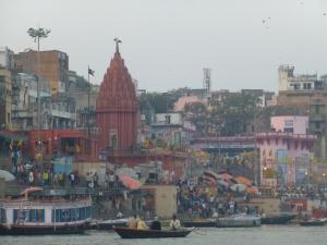 Het is druk aan de Ganges.