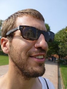 De Taj in mijn bril.