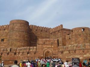 Het fort van Agra.