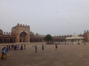 Jama Masjid, de moskee naast de verlaten stad.