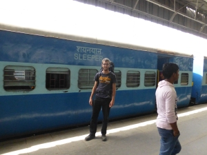 Ik ben zojuist weer aangekomen in Delhi.