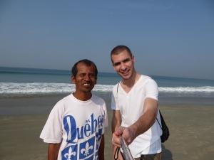 Schiwa sprak me aan op het strand
