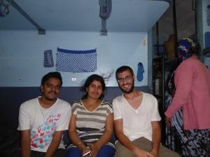 Met Kushal en Kumari in de trein.